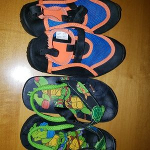 Other - Bundle: Flip Flops and Water Shoes-Boys Size 9/10